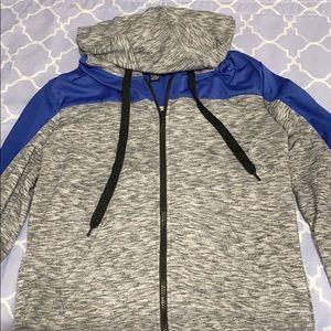 Royal blue & heather zip up hoodie